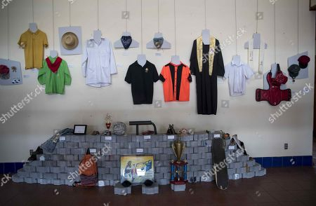 View of clothes and objects belonging to those killed during the protests against the Government of Daniel Ortega at the opening of a memorial museum dedicated to them, in Managua, Nicaragua, 30 September 2019. The Madres de Abril Association (AMA), led by mothers of the anti-government demonstrators killed in Nicaragua, opened a memorial museum. The memory museum, open to the public at the headquarters of the Institute of History of Nicaragua and Central America (IHNCA) of the Jesuit Central American University (UCA) and also virtual, has the slogan 'AMA (Spanish word for love) and do not forget, museum of memory against impunity'.