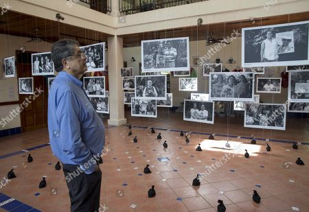 Nicaraguan writer Sergio Ramirez look at pictures of the victims at the opening of a memorial museum dedicated to those killed during the protests against the Government of Daniel Ortega, in Managua, Nicaragua, 30 September 2019. The Madres de Abril Association (AMA), led by mothers of the anti-government demonstrators killed in Nicaragua, opened a memorial museum. The memory museum, open to the public at the headquarters of the Institute of History of Nicaragua and Central America (IHNCA) of the Jesuit Central American University (UCA) and also virtual, has the slogan 'AMA (Spanish word for love) and do not forget, museum of memory against impunity'.