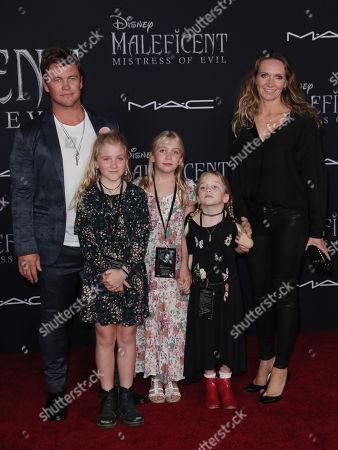 Stock Photo of Luke Hemsworth and family