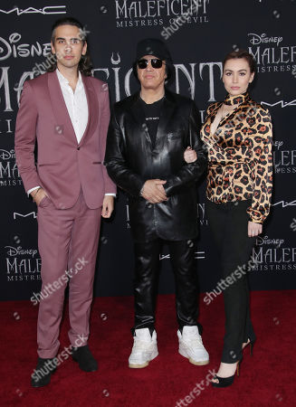 Nick Simmons, Gene Simmons and Sophie Simmons