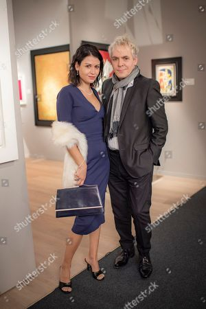 Stock Picture of Nefer Suvio and Nick Rhodes