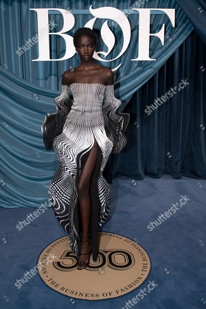 Egyptian-American model Anok Yai arrives for the Business of Fashion, BoF 500 gala held at the Hotel de Ville in Paris, France, 30 September 2019.