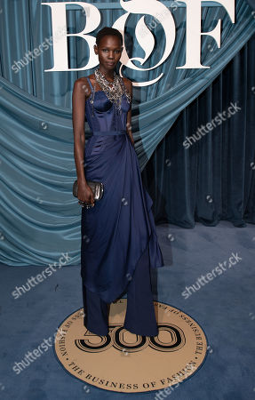 Ethiopian - South Sudanese fashion model Shanelle Nyasiase arrives for the Business of Fashion, BoF 500 gala held at the Hotel de Ville in Paris, France, 30 September 2019.