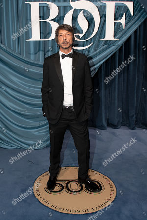 Italian artistic director of Valentino, Pierpaolo Piccioli arrives for the Business of Fashion, BoF 500 gala held at the Hotel de Ville in Paris, France, 30 September 2019.