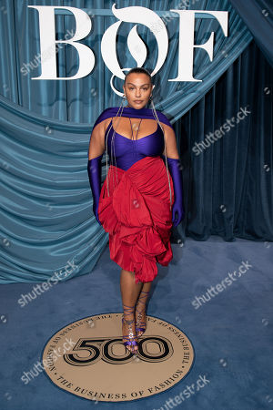 Stock Picture of US model Paloma Elsesser arrives for the Business of Fashion, BoF 500 gala held at the Hotel de Ville in Paris, France, 30 September 2019.