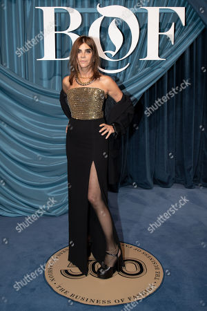 French fashion editor Carine Roitfeld arrives for the Business of Fashion, BoF 500 gala held at the Hotel de Ville in Paris, France, 30 September 2019.