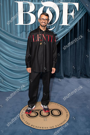 Italian fashion editor Simone Marchetti arrives for the Business of Fashion, BoF 500 gala held at the Hotel de Ville in Paris, France, 30 September 2019.
