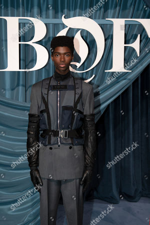 US dancer and model Alton Mason arrives for the Business of Fashion, BoF 500 gala held at the Hotel de Ville in Paris, France, 30 September 2019.