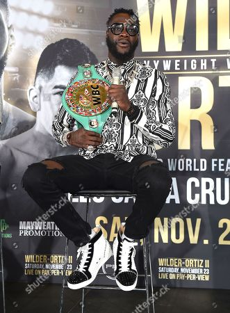 Editorial picture of Fox Sports PBC PPV 'Wilder v Ortiz' press conference, Los Angeles, USA - 28 Sep 2019