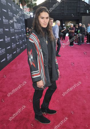 """Booboo Stewart arrives at the world premiere of """"Maleficent: Mistress of Evil"""", at the El Capitan Theatre in Los Angeles"""