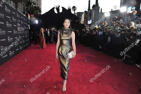 """Yi Zhou arrives at the world premiere of """"Maleficent: Mistress of Evil"""", at the El Capitan Theatre in Los Angeles"""