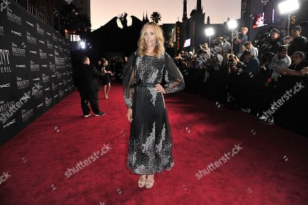 """Kim Raver arrives at the world premiere of """"Maleficent: Mistress of Evil"""", at the El Capitan Theatre in Los Angeles"""