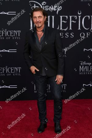 """Patrick Tatopoulos arrives at the world premiere of """"Maleficent: Mistress of Evil"""", at the El Capitan Theatre in Los Angeles"""