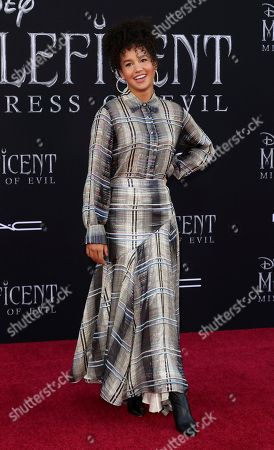 "Sofia Wylie arrives at the world premiere of ""Maleficent: Mistress of Evil"", at the El Capitan Theatre in Los Angeles"