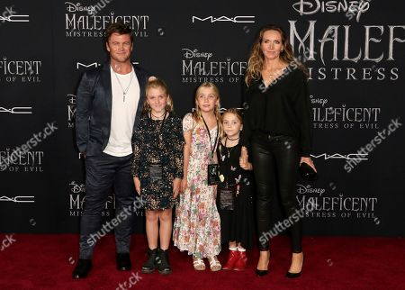 "Luke Hemsworth, Harper Rose Hemsworth, Ella Hemsworth, Holly Hemsworth, Samantha Hemsworth. Luke Hemsworth, from left, Harper Rose Hemsworth, Ella Hemsworth, Holly Hemsworth and Samantha Hemsworth arrive at the world premiere of ""Maleficent: Mistress of Evil"", at the El Capitan Theatre in Los Angeles"