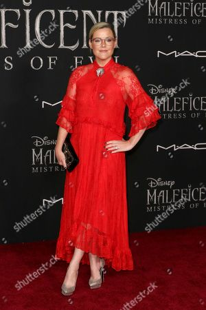 """Kathleen Robertson arrives at the world premiere of """"Maleficent: Mistress of Evil"""", at the El Capitan Theatre in Los Angeles"""