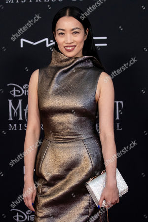 Yi Zhou poses on the red carpet prior to the premiere of the film 'Maleficent Mistress of Evil' at El Capitan Theater in Los Angeles, California, USA, 30 September 2019. The movie will be released in US theaters on 18 October.