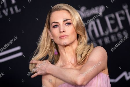 US fashion model Amanda Hearst, wife of Norwegian film director Joachim Ronning, poses on the red carpet prior to the premiere of the film 'Maleficent: Mistress of Evil' at El Capitan Theater in Los Angeles, California, USA, 30 September 2019. The movie will be released in US theaters on 18 October.