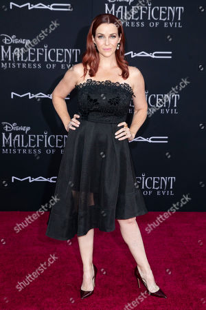 Annie Wersching poses on the red carpet prior to the premiere of the film 'Maleficent: Mistress of Evil' at El Capitan Theater in Los Angeles, California, USA, 30 September 2019. The movie will be released in US theaters on 18 October.