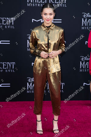 Olivia Rodrigo poses on the red carpet prior to the premiere of Disney's 'Maleficent Mistress of Evil' at El Capitan Theater in Los Angeles, California, USA, 30 September 2019. The movie will be released in US theaters on 18 October.