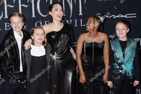 Angelina Jolie and kids - nox Léon Jolie-Pitt, Zahara Jolie-Pitt, Pax Jolie-Pitt, Vivienne Jolie-Pitt, and Shiloh Jolie-Pitt