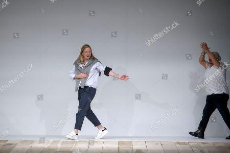 Sarah Burton on the catwalk