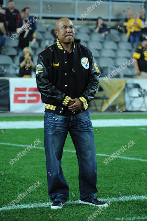 Steelers ring of honor Hines Ward during the Pittsburgh Steelers vs Cincinnati Bengals at Heinz Field in Pittsburgh, PA