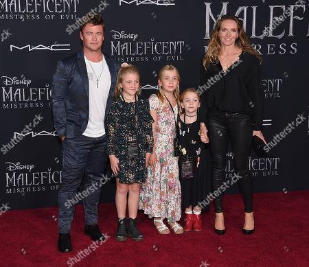 Luke Hemsworth, Holly Hemsworth, Harper Rose Hemsworth, Alexandre Hemsworth and Samantha Hemsworth