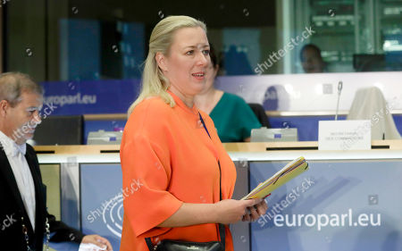 European Commissioner-designate in Charge of International Partnerships, Jutta Urpilainen from Finland attends her confirmation hearing before the European Parliament in Brussels, Belgium