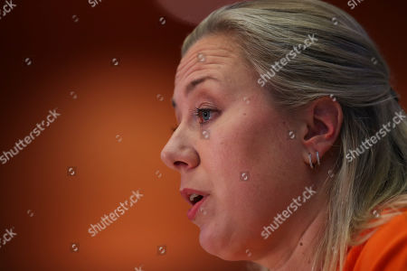European Commissioner designate for International Partnerships Jutta Urpilainen answers questions during her hearing at the European Parliament in Brussels
