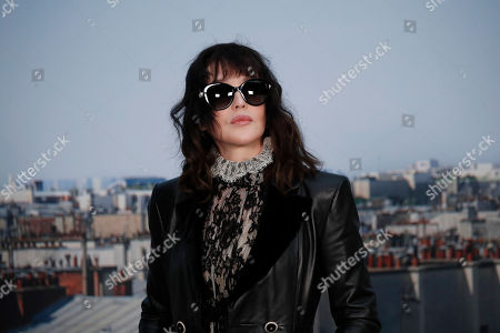 Stock Picture of Actress Isabelle Adjani poses for photographers as she arrives for the Chanel Ready To Wear Spring-Summer 2020 collection, unveiled during the fashion week, in Paris
