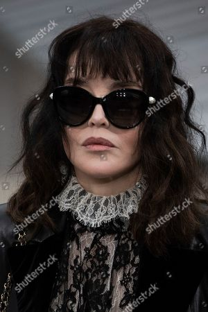 Isabelle Adjani attends the Chanel Ready To Wear Spring-Summer 2020 collection, unveiled during the fashion week, in Paris