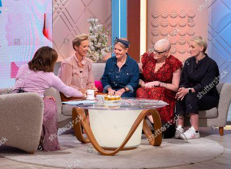 Lorraine Kelly and Helen Addis with Amy Stott Sinead Scott Lennon, Sally Nyland