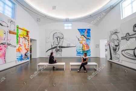 Albert Oehlen art installation