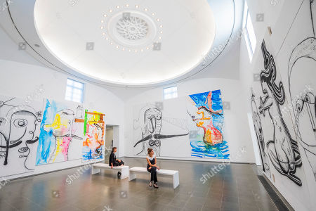 Stock Image of Albert Oehlen art installation