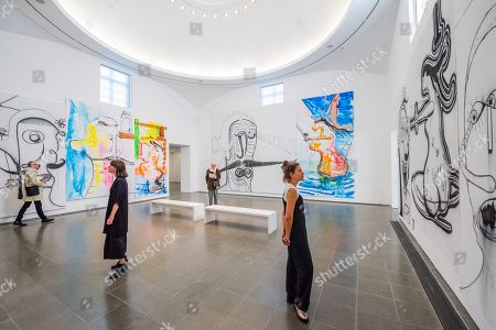 Editorial image of Albert Oehlen exhibition, Serpentine Galleries, London, UK - 01 Oct 2019