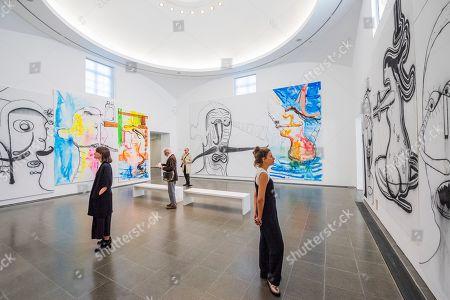 Stock Picture of Albert Oehlen art installation