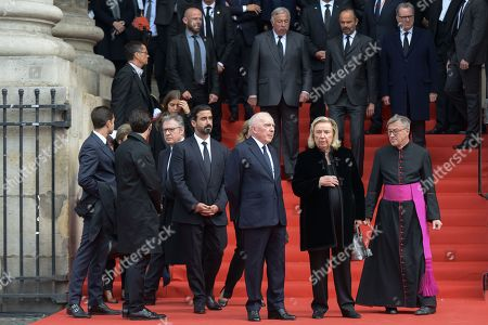 Francois Pinault attends the solemn service at St Saint-Sulpice church