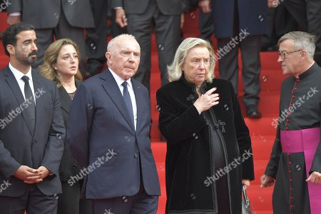 Francois Pinault and Marie Yvonne attend the solemn service at St Saint-Sulpice church