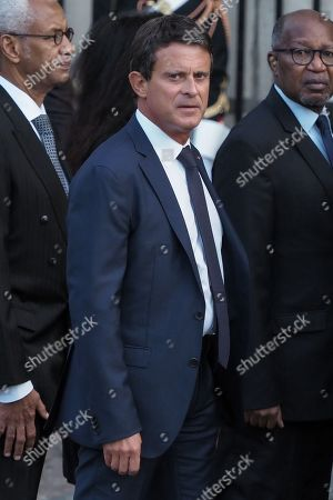 Manuel Valls attends the solemn service at St Saint-Sulpice church