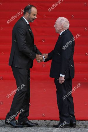 Francois Pinault and Edouard People attend the solemn service at St Saint-Sulpice church