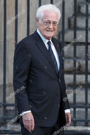 Lionel Jospin attends the solemn service at St Saint-Sulpice church