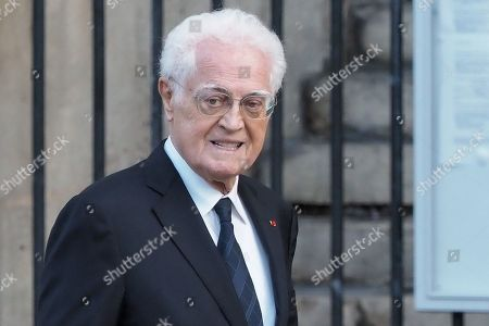 Stock Photo of Lionel Jospin attends the solemn service at St Saint-Sulpice church