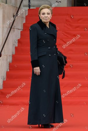 Farah Pahlavi attends the solemn service at St Saint-Sulpice church