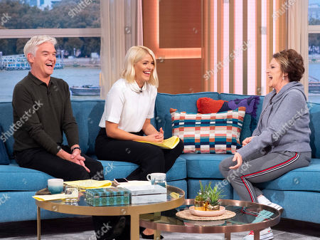 Phillip Schofield and Holly Willoughby with Lorna Luft