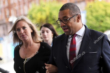 James Cleverly, Conservative Party Chairman, and Susannah Cleverly.