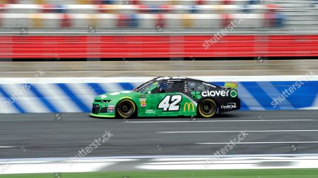 Kyle Larson during practice for Sunday's NASCAR Cup Series auto race at Charlotte Motor Speedway in Concord, N.C