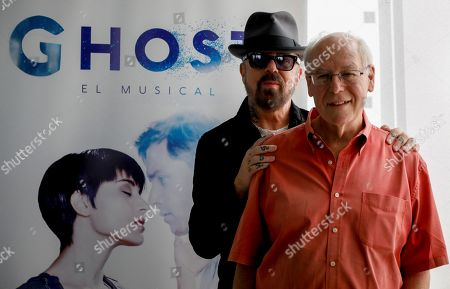 US Oscar-winning screenwriter Bruce Joel Rubin (R) and British musician David Allan ' Dave Stewart (2-R), best known for Eurythmics, pose for the photographers during the presentation of 'Ghost, The Musical' in Madrid, Spain. The musical is based on the famous movie starred by Demi Moore and Patrick Swayze.