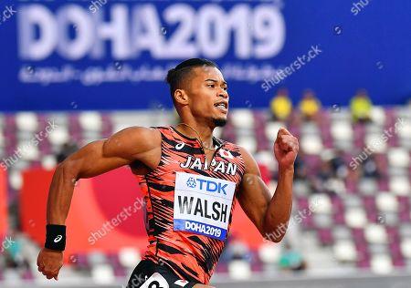 Julian Jrummi Walsh of Japan in action during the men's 400m heats at the IAAF World Athletics Championships 2019 at the Khalifa Stadium in Doha, Qatar, 01 October 2019.