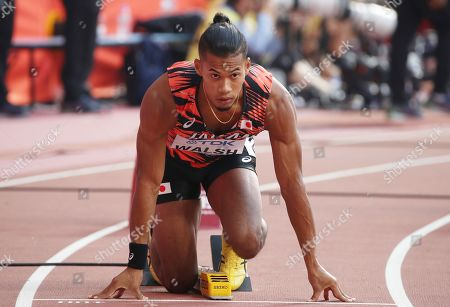 Julian Jrummi Walsh of Japan starts in the men's 400m heats at the IAAF World Athletics Championships 2019 at the Khalifa Stadium in Doha, Qatar, 01 October 2019.